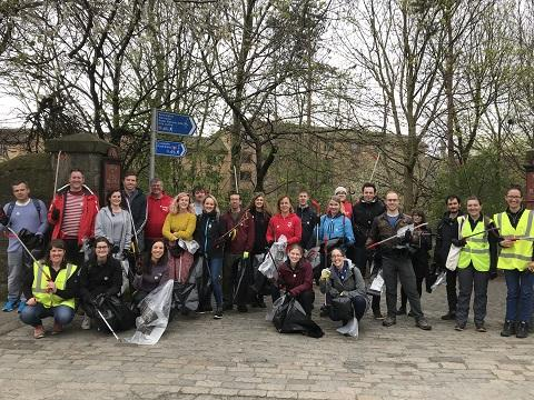 Photo of litter pick group